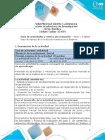 Guía de actividades y rúbrica de evaluación - Unidad 1 - Paso 1- Realizar lí_nea de tiempo de la evolución histórica de la Bioética (1)