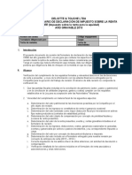 Lista de chequeo - programa revision renta  año 2013