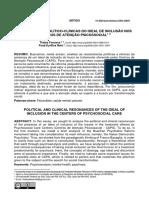Ressonâncias Político-clínicas Do Ideal de Inclusão Nos Centros de Atenção Psicossocial