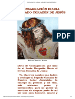 CONSAGRACION DIARIA AL SAGRADO CORAZON DE JESUS