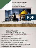 Clase Coronavirus y Derecho Laboral. Col. Gral. Roca.doc