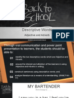 Adjective and Adverb Grade 9 Lesson
