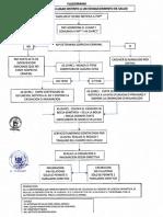 Flujograma sobre el protocolo de actuación respecto al COVID-19