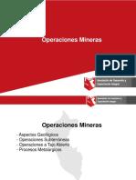 DESCRIPCION DE OPERACIONES MINERAS