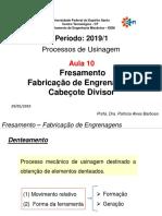 AULA 10 - Fresamento-Fabricação de Engrenagem