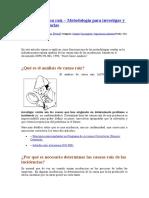 Análisis de causa raíz – Metodología para investigar y resolver incidencias