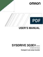 3G3EV Inverter Manual SYSMAC BUS Model Operation Manual