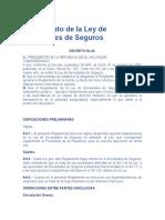Reglamento de la Ley de Sociedades de Seguros