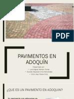Pav. en Adoquín