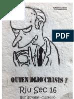 Revista Riu Sec. Nº16 Crisis. 2011