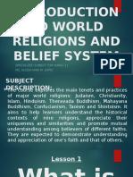 Lesson 1 - World Religion