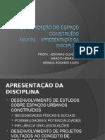 AULA 01A - REQUALIFICAÇÃO DO ESPAÇO CONSTRUÍDO