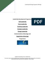 Leadership Advantage Programmes 2011 Offerings