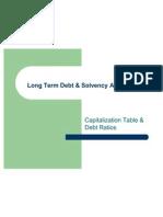 Long Term Debt & Solvency Analysis