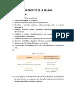 COMPONENTES DE LA PRUEBA ICFES