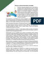 Antecedentes de La Educacción Inicial en Panamá