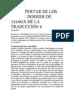 EL DESPERTAR DE LOS TONOS 4