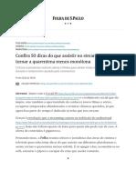 Confira 50 dicas do que assistir na quarentena - Folha.SP