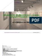 Catálogo Bibliografíco sobre conservación en exposiciones y museos