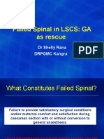 failed spinal