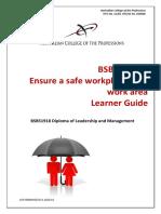 BSBWHS521 Learner Guide V1.0 (1)