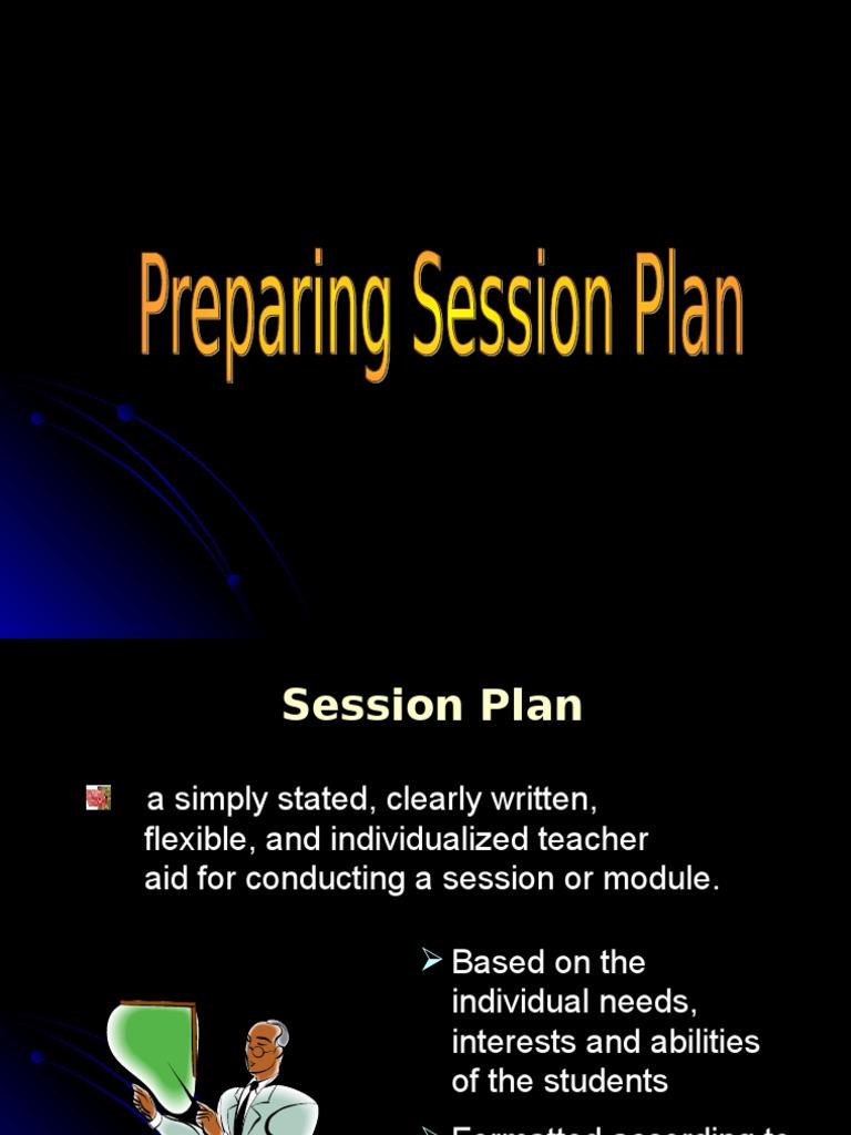 1 Prepare Sesson Plan Educational Assessment Educational Psychology
