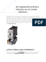 Ejemplo de regulación práctica de relé térmico en un motor eléctrico