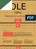 Ole - Retro Powerpoint Template