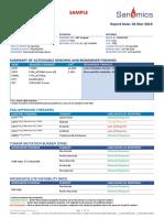 Sanomics OncoSnapPro Sample Report