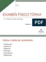 Semana 3 Sesión 3 - EXAMEN FÍSICO DE TÓRAX - Dr. Avilés.pptx