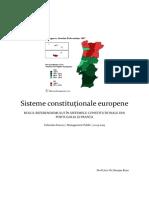 Drept Constitutional Comparat - Sisteme Constitutionale Europene