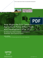 How Might the EU's Common Agricultural Policy Affect Trade and Development After 2013