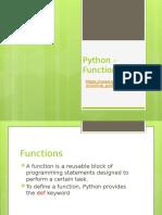 Python - Functions (1)