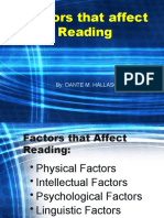 Factors that Affects Reading