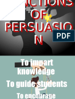 FUNCTIONS OF PERSUASION
