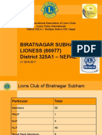 BIRATNAGAR SUBHAM LIONESS (66977)  District 325A1 – NEPAL L/Y 2016-17