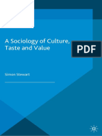 Sociology of Culture, Taste and Value, A - Stewart, Simon