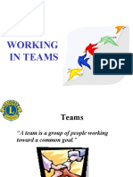 The International Association of Lions Clubs  (Lions Clubs International)  District 325 A 1, Multiple District 325, Nepal  Working in Teams PPTRLLI