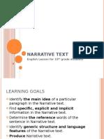 ppt bahasa inggris kelas 10 Narrative text