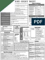 Grammar Cheat Sheet