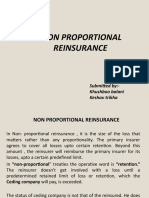 4. Non Proportional treaties