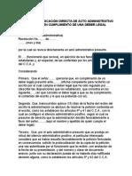 MODELO DE REVOCACIÓN DIRECTA DE ACTO ADMINISTRATIVO PRESUNTO