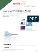 Glosario de Informática en Alemán