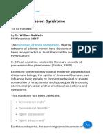 Spirit Possession Syndrome