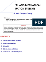 Mechanical and Electrical Actuation Systems_UNIT II SECOND HALF