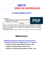 UNIT III - System Building Blocks, Models and Closed Loop Controllers