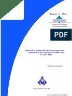 Analyse de La Notation Du Maroc MEF 2003