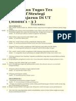 Kumpulan Tugas Tes Formatif Strategi Pembelajaran Di UT
