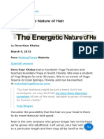 The Energetic Nature of Hair