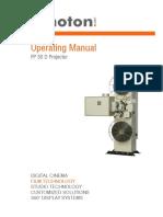 Kinoton FP30D Operating Manual
